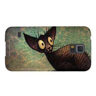 Cute Black Oriental Cat Galaxy S5 Cases