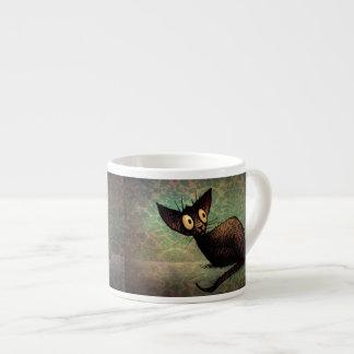 Cute Black Oriental Cat Espresso Cups