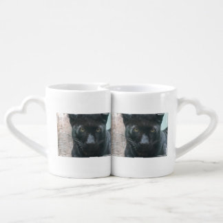 Cute Black Panther Lovers Mug Sets