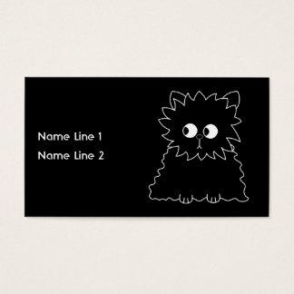 Cute Black Persian Cat. Business Card