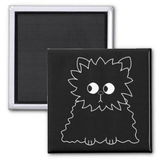 Cute Black Persian Cat. Fridge Magnets