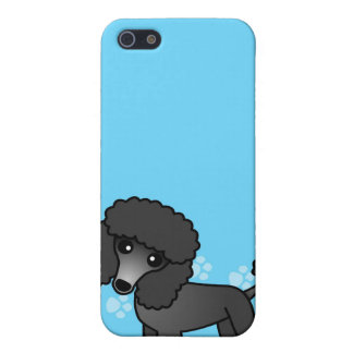 Cute Black Poodle Cartoon iPhone 5/5S Cover