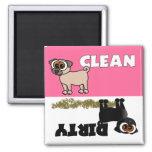 Cute Black Pug Clean / Dirty Dishwasher Magnet