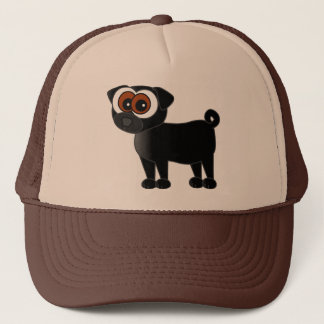 Cute Black Pug Hat