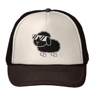 Cute Black Sheep Cartoon Trucker Hats