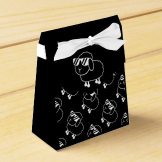 Cute Black Sheep Cartoon Favour Box