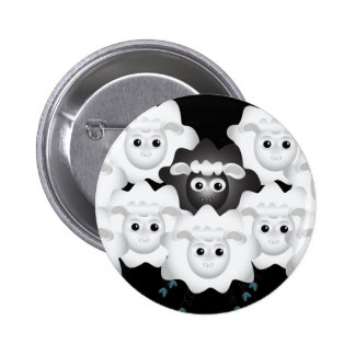 Cute Black Sheep of the Family 6 Cm Round Badge