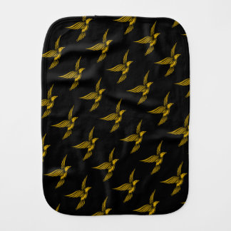 Cute black vintage gold eagle patterns burp cloth