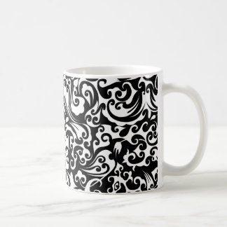 Cute black white abstract background design coffee mug