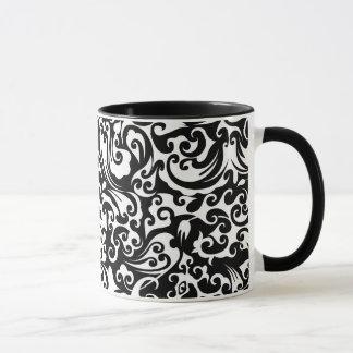 Cute black white abstract background design mug