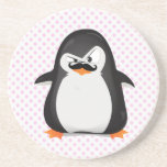 Cute Black  White Penguin And  Funny Moustache