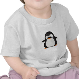 Cute Black  White Penguin And  Funny Moustache T-shirt