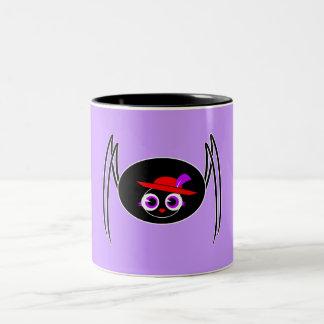 Cute Black Widow Two-Tone Mug