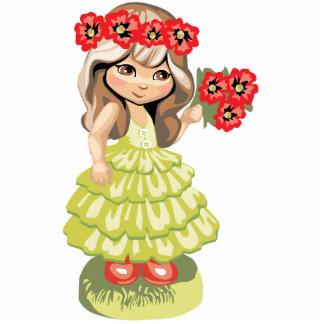 Cute Blond Girl Magnet Photo Sculptures