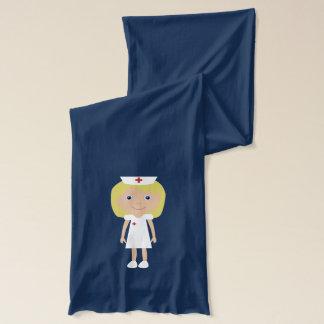 Cute Blonde Cartoon Nurse Scarf