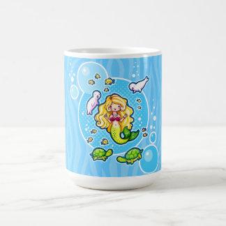 Cute Blonde Mermaid Personalized Mug