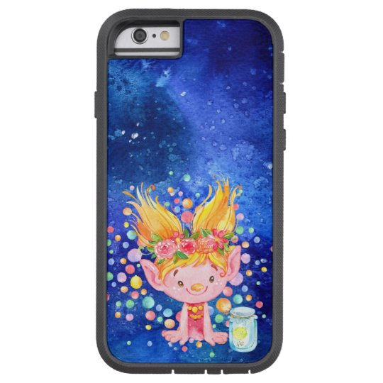 Cute Blonde Point Eared Troll and Firefies Tough Xtreme iPhone 6 Case