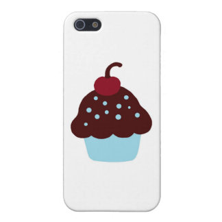 Cute Blue and Brown Birthday Cupcake Cases For iPhone 5