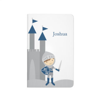 Cute Blue and Gray Knight and Castle Journals