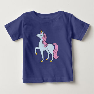 Cute Blue and Pink Unicorn Baby T-Shirt