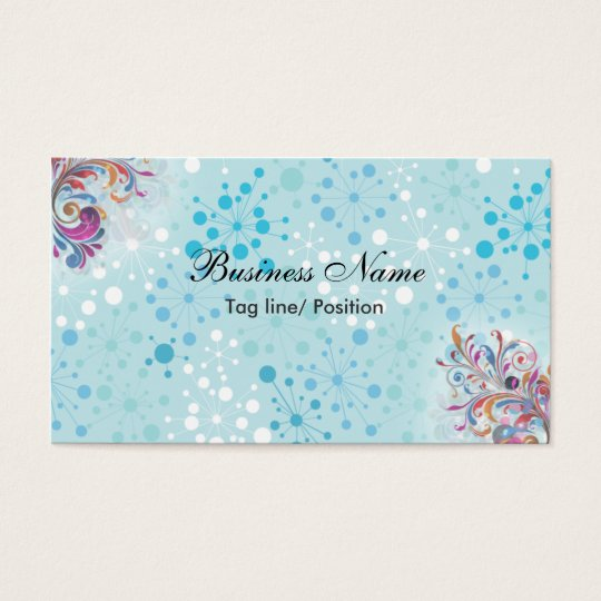 Cute Blue and White Bubbles Business Card