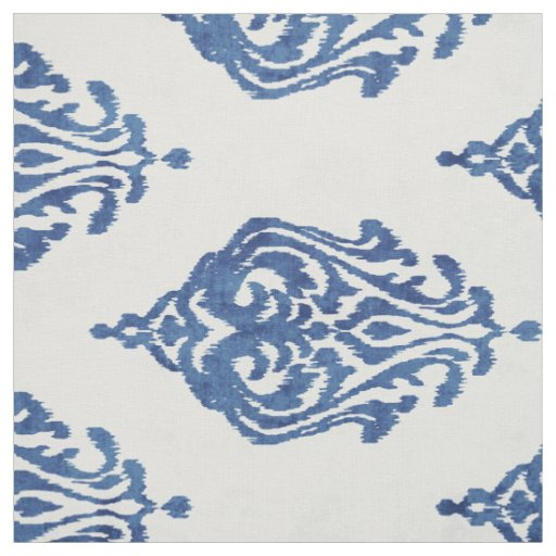 Cute blue and white damask ikat tribal patterns