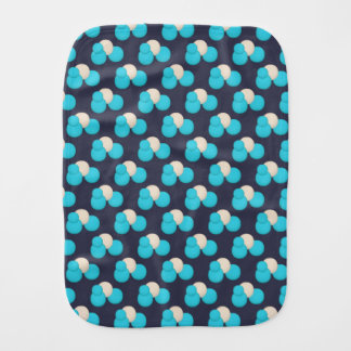 CUTE Blue and White Dot Pattern Burp Cloth