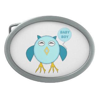 Cute Blue Baby Boy Owl Belt Buckle