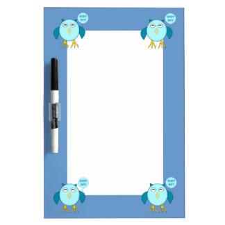 Cute Blue Baby Boy Owl Memo Board