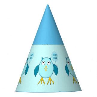 Cute Blue Baby Boy Owl Party Hat