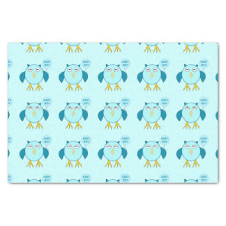 Cute Blue Baby Boy Owl Tissue Paper