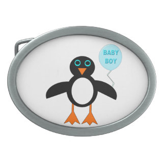 Cute Blue Baby Boy Pemguin Belt Buckle