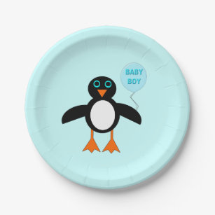 Cute Blue Baby Boy Penguin Paper Party Plates  sc 1 st  Zazzle & Cute Penguin Plates | Zazzle.co.uk