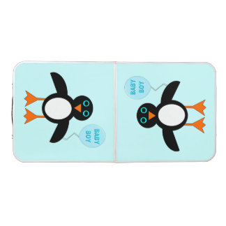 Cute Blue Baby Boy Penguin Pong Table