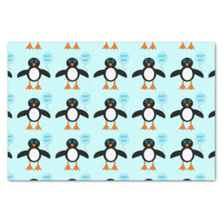 Cute Blue Baby Boy Penguin Tissue Paper