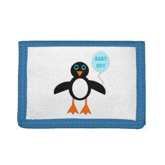 Cute Blue Baby Boy Penguin Wallet