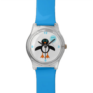 Cute Blue Baby Boy Penguin Watch