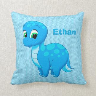 Cute Blue Baby Dinosaur Cushion