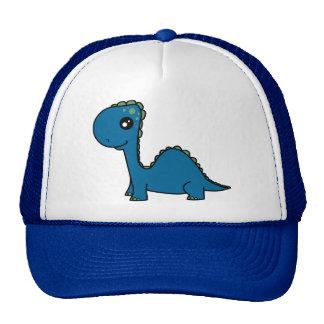 Cute Blue Baby Dinosaur Trucker Hats