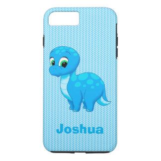 Cute Blue Baby Dinosaur iPhone 8 Plus/7 Plus Case