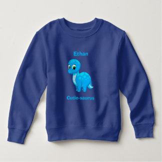 Cute Blue Baby Dinosaur Sweatshirt