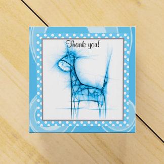 Cute Blue Baby Giraffe | Baby Shower Party Favour Boxes