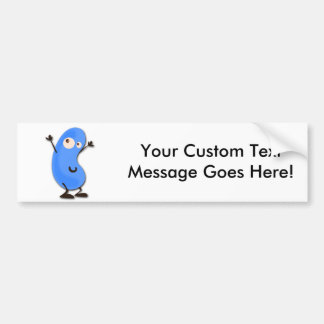 Cute Blue Bean Monster Bumper Sticker