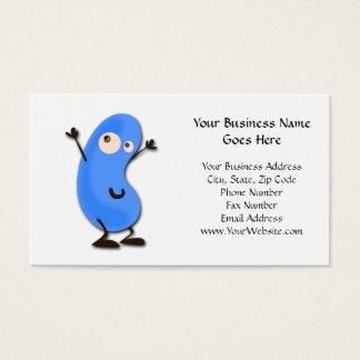 Cute Blue Bean Monster Business Card