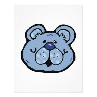 cute blue bear face flyers