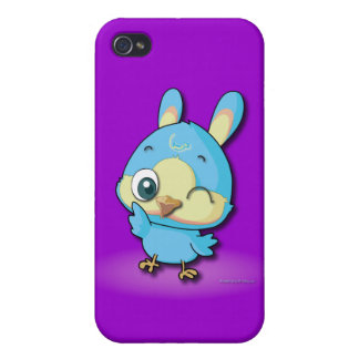 Cute Blue Bird Funny Cartoon Character i Cases For iPhone 4