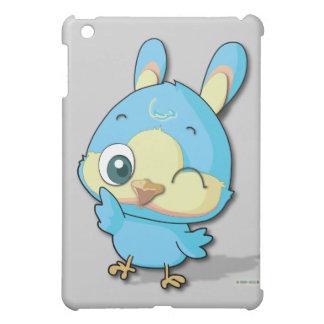 Cute Blue Bird Funny Cartoon Character iPad Case