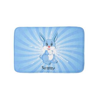 Cute Blue Bunny Cartoon Bath Mats