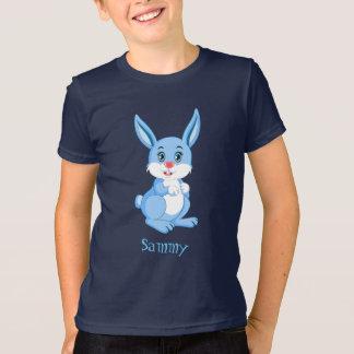 Cute Blue Bunny Cartoon T-Shirt