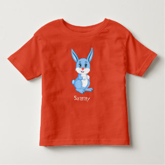 Cute Blue Bunny Cartoon Toddler T-Shirt